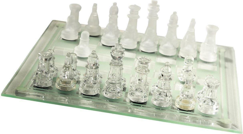 JYSK Szklane szachy 25x25cm