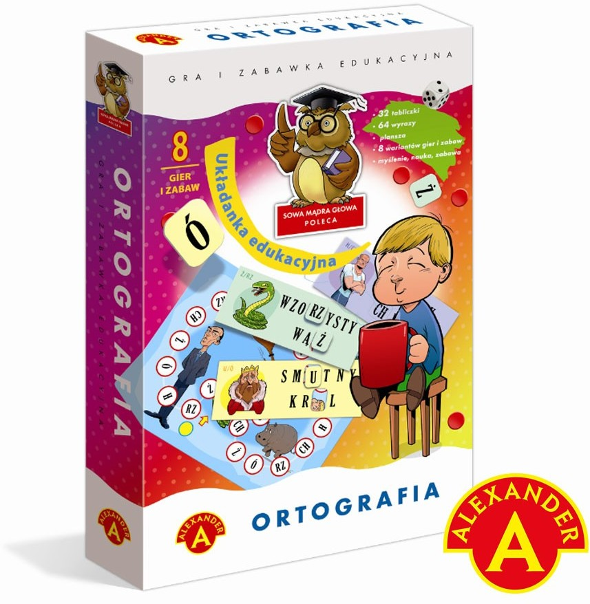 Alexander Ortografia - układanka edukacyjna 013221