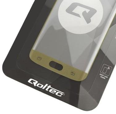 Opinie o Qoltec Hartowane szkło ochronne Premium do Samsung Galaxy S7 edge | Pełne | złote 51334