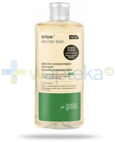 Tołpa TORF CORPORATION dermo men hair głęboko oczyszczający szampon przeciw przetłuszczaniu 250 ml 7069094