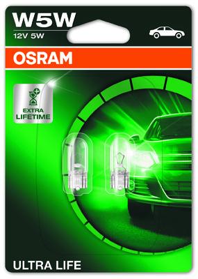OSRAM W5W 12V 5W W2,1x9,5d ULTRA LIFE