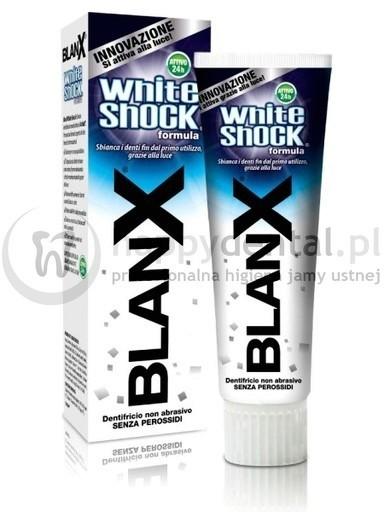 Coswell BLANX WhiteShock pasta 75ml - wybielająco-ochronna pasta do zębów aktywowana światłem - NOWOŚĆ !!