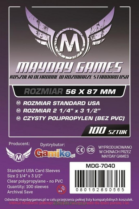 Mayday Games Koszulki Standard American 56x87 (100szt) MAYDAY