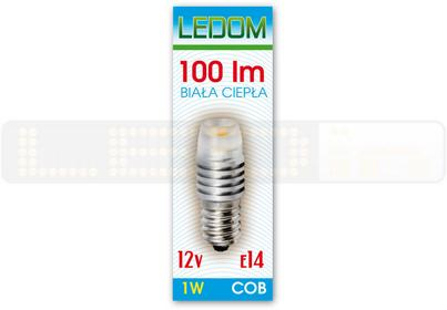 Ledom Żarówka COB E14 12V 1W biała ciepła 244445