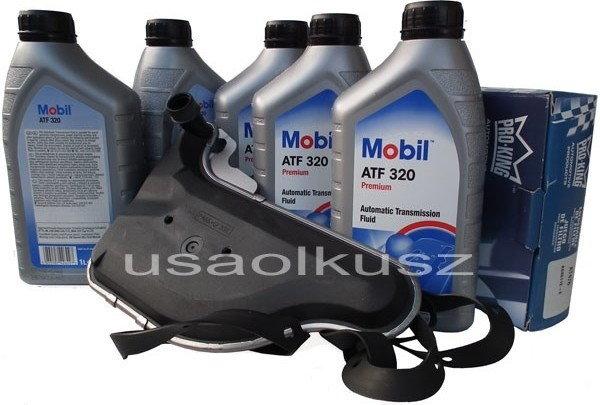 Mobil Filtr oraz olej skrzyni biegów ATF320 Buick Terraza