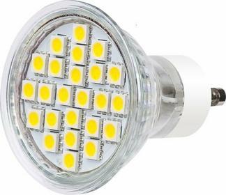 TB Energy Żarówka LED GU10 230V 4,7W Biały Zimny 24x5050 SMD 280 lum. LLTBEGUS006