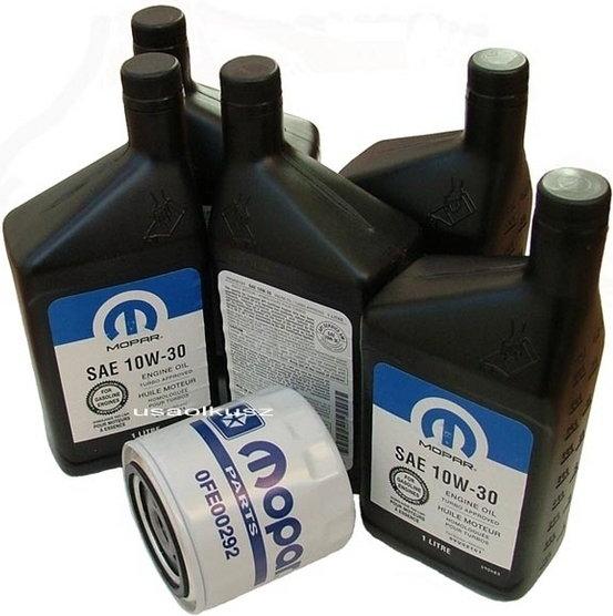 MOPAR Filtr oleju + olej 10W30 Dodge Avenger 2,5 V6