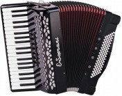 E.Soprani 969 KK 37/3/7 96/5/4 akordeon (czarny, czerwony miech)