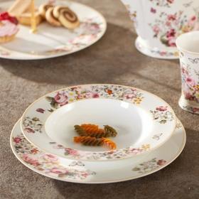 Dekoria Talerz głęboki Blooming porcelana 23cm