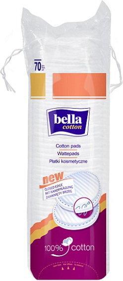 Bella Płatki kosmetyczne Cotton z zamkniętym brzegiem 70szt.