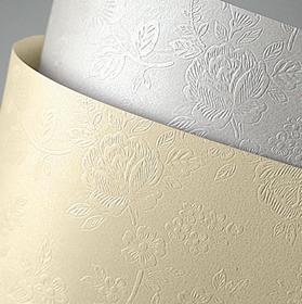 Karton ozdobny Premium Floral Galeria Papieru, diamentowa biel, format A4 20