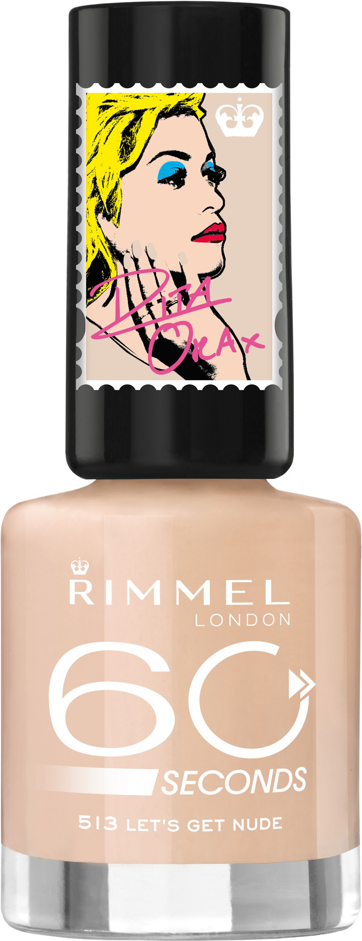 Rimmel 60 Seconds Super Shine lakier do paznokci 513 Lets Get Nude 8ml