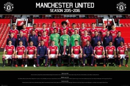 Manchester United - Drużyna 15/16 Plakat