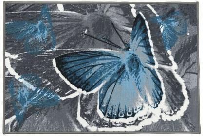 Pętelka drukowana Dywan Foxy Motyl Niebieski 501635