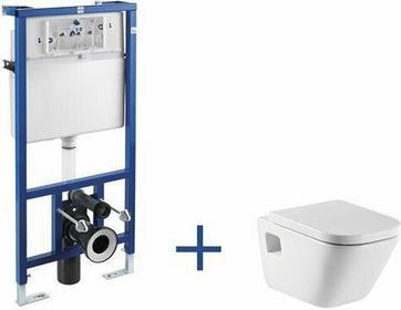 Roca Gap - Zestaw podtynkowy (miska wc podwieszana + stelaż podtynkowy Do kompaktu WC 3/6 l (zabudowa lekka) z zestawem montażowym oraz kolankiem odpływowym 90/110 mm) A89009000G