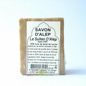 Mydło w kostce z Allepo 20% oleju laurowego Sultan dAlep 200g