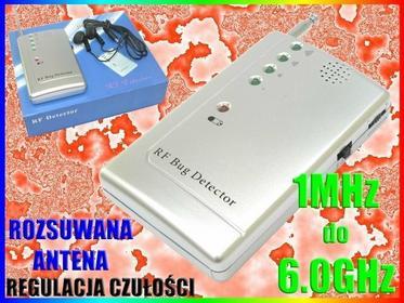 DETEKTOR WYKRYWACZ KAMER PODSŁUCHÓW GSM WiFi 3G FM Easy