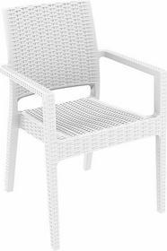Siesta DESIGN FURNITURE Krzesło ogrodowe na taras polyrattan Ibiza białe