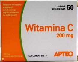 Synoptis Witamina C 200 mg APTEO 50 szt.