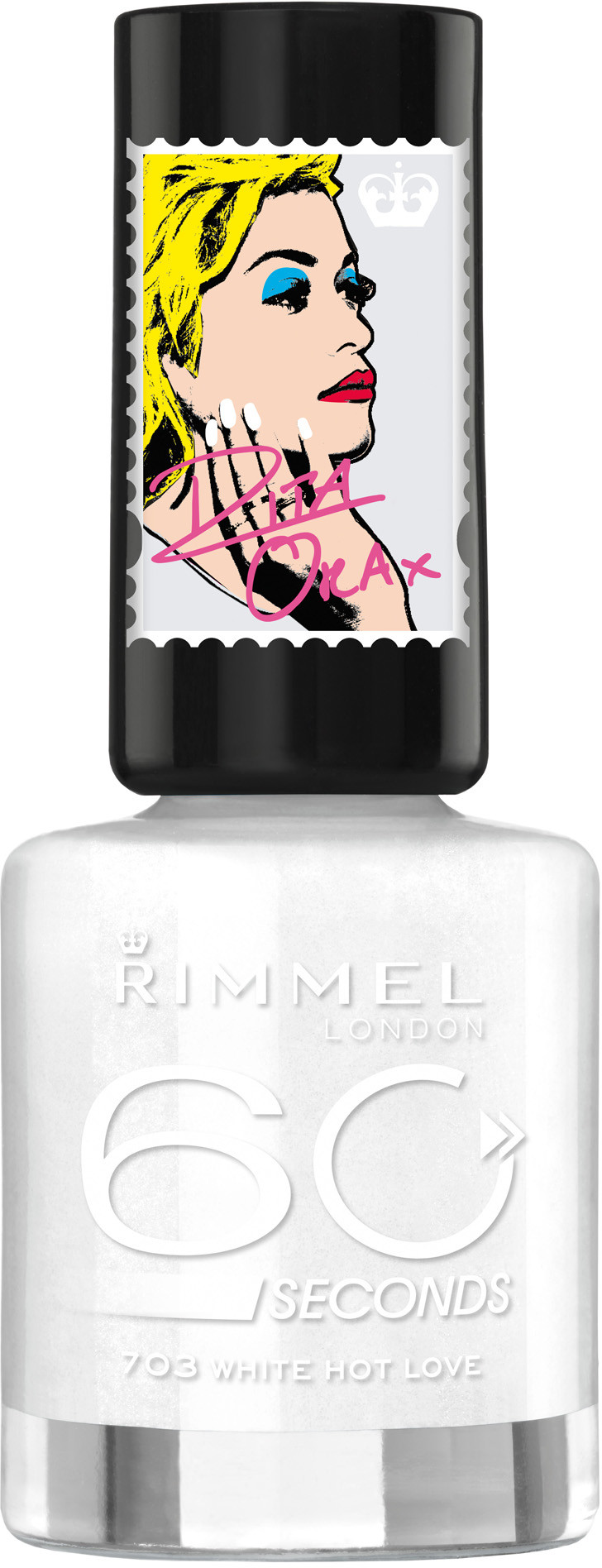 Rimmel 60 Seconds Super Shine lakier do paznokci 703 White Hot Love 8ml