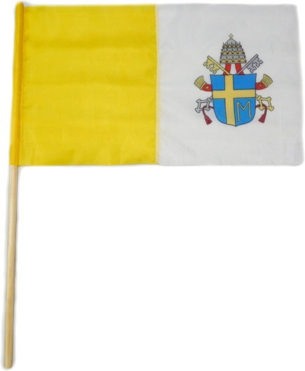Opinie o Flaga chorągiewka papieska z herbem 40/24 cm