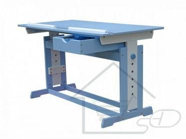 Biurko dziecięce regulowane Ławka pod laptopa niebieska V_125682613