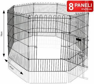 Zagroda dla zwierząt Petainer (8 paneli 61x76cm) + SIATKA