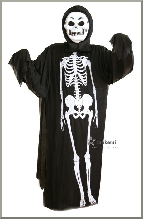 Przebranie kościotrup śmierć - strój na karnawał, sylwestra, halloween