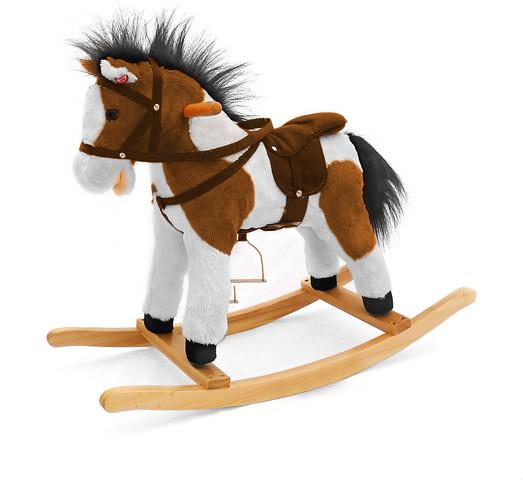Milly Mally Pony Figaro koń na biegunach brązowo-biały