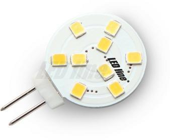 LED Line Żarówka LED LEDline G4 1,8W 12V AC/DC TALERZ 9SMD biała ciepła 242014