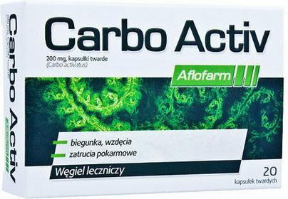 Aflofarm CARBO ACTIV węgiel leczniczy 20 szt.