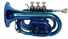 Dimavery TP-300 Trąbka kieszonkowa Bb, niebieska