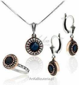 AnKa Biżuteria Biżuteria Wiedeńska - Komplet biżuterii z szafirami