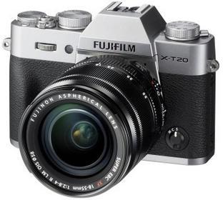 Fuji X-T20 + 18-55 srebrny