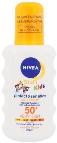 Nivea Sun Kids Protect & Sensitive Sun Spray SPF50+ 200ml U Opalanie do skóry wrażliwej 73111