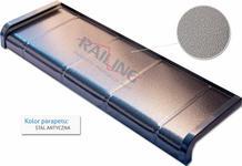 Opinie o Railing Parapet Aluminiowy typ płytka - kolor stal antyczna
