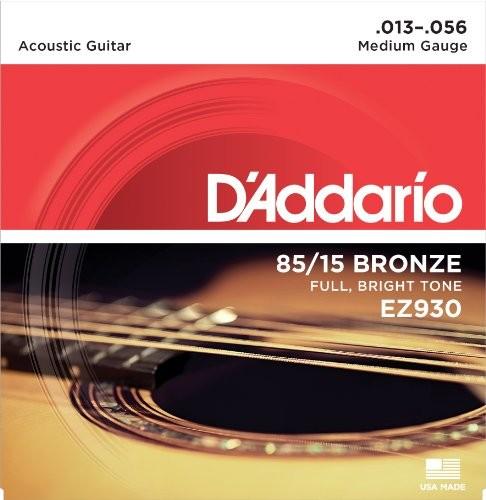 D'Addario EZ930 struny do gitary akustycznej, owijka: brąz, rozmiar: 13 - 56 EZ930