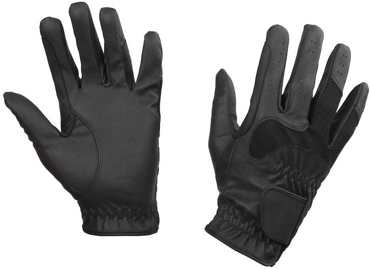 Rękawiczki jeździeckie Gloria, czarne, roz. XS