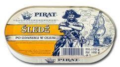 Łosoś Śledź po gdańsku w oleju 170 g Pirat