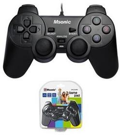 Msonic Gamepad przewodowy MSONIC USB z funkcją wibracji MN3329BK czarny
