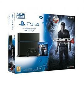 Sony PlayStation 4 1TB Czarny + Uncharted 4 + Driveclub + Minecraft