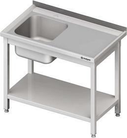 Stalgast Stół ze zlewem 1-kom.(l),z półką 1700x700x850 mm skręcany 980707170