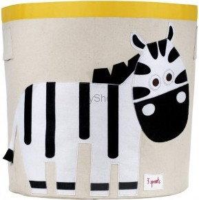 3Sprouts Kosz na zabawki Zebra 3SSBZE