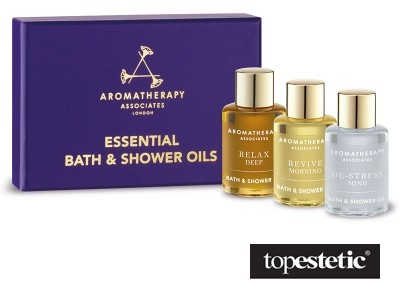 Aromatherapy Associates Bath & Shower Oils Trio Zestaw 3 olejków do kąpieli i pod prysznic 3 x 7,5 ml