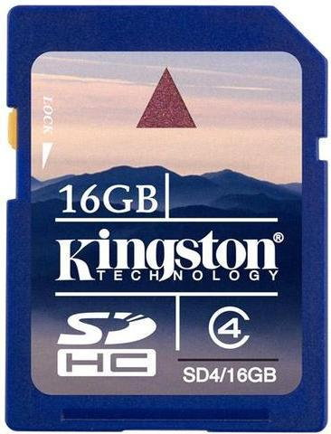 Kingston SDHC Class 4 16GB (SD4/16GB)