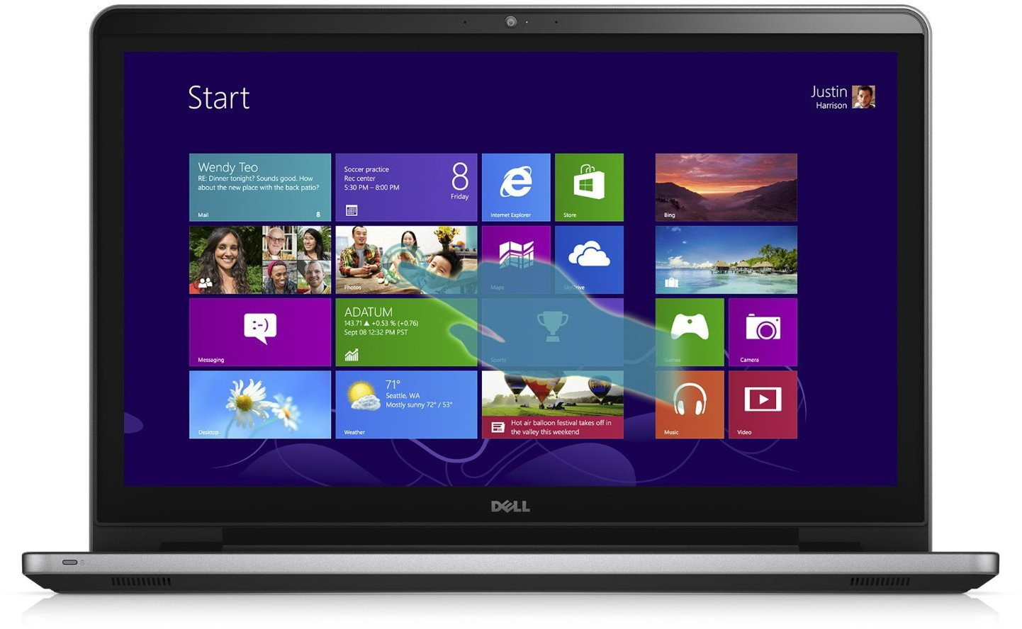 "Dell Inspiron 17 ( 5758 ) 17,3"", Core i3 2,0GHz, 8GB RAM, 1000GB HDD"