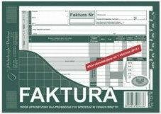 Mipro Faktura VAT wzór uproszczony A5 123-3E