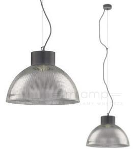 Nowodvorski LAMPA wisząca FACTORY 6928 szklana OPRAWA zwis IP20 kopuła karbowana