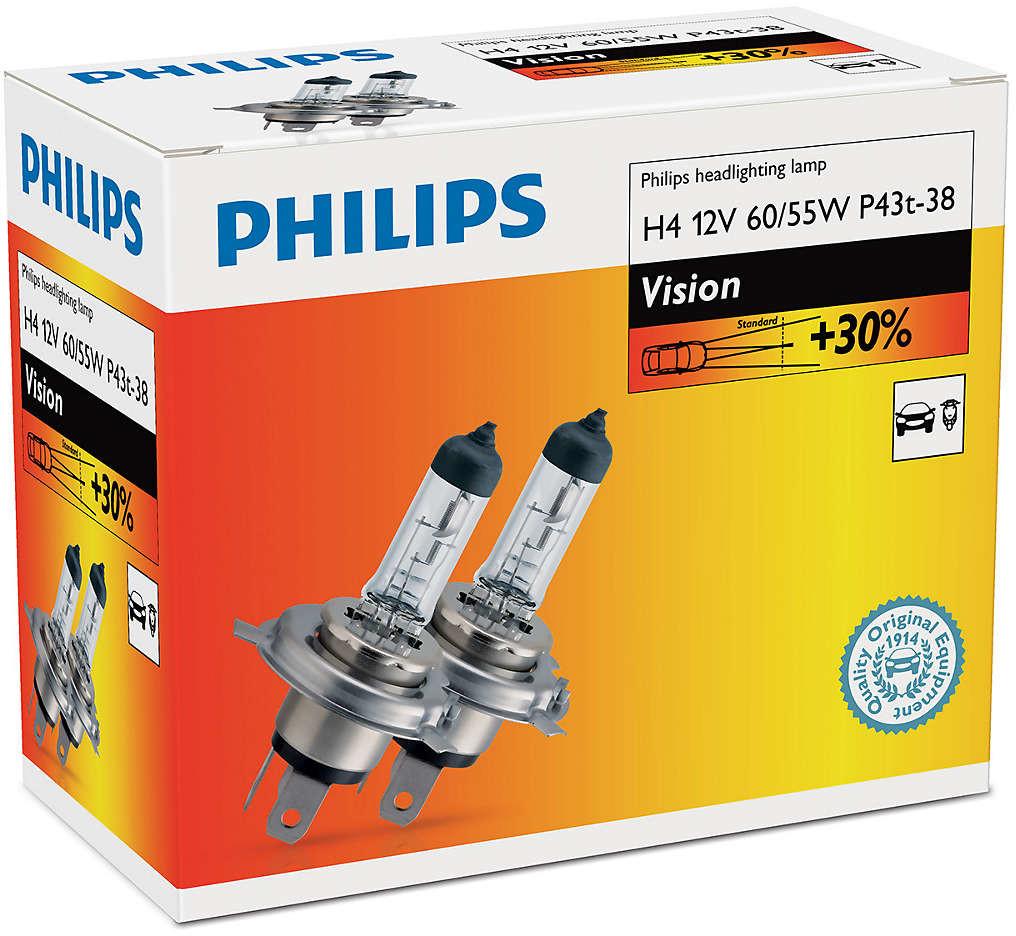Philips H4 Vision 12V 60/55W P43t-38 - 2 szt.