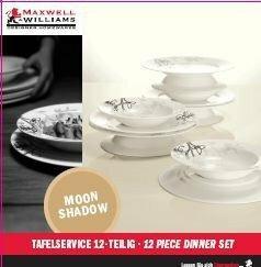 Maxwell&Williams Moon Shadow - Zestaw obiadowy dla 6 osób